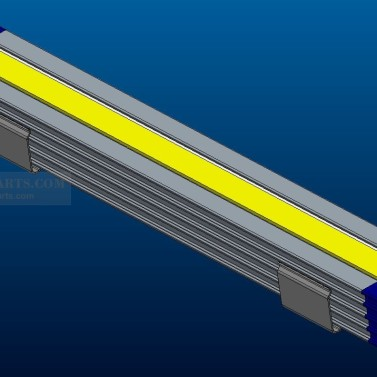 Plastic Extrusion Light Housing