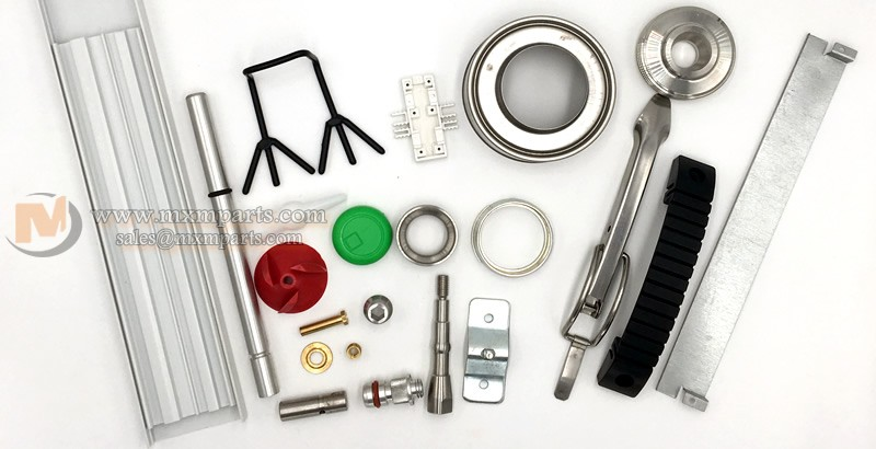 metal parts and plastic parts